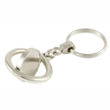 Keyring Blank Spinner 21.4mm and clear domes